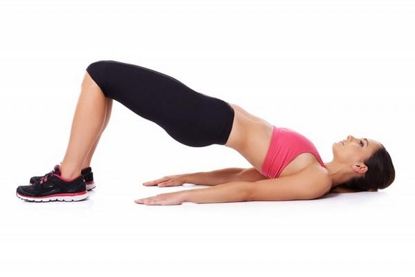 Упражнение Полумост по системе похудения Табата