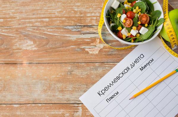 Кремлевская диета – меню, баллы, результаты, отзывы
