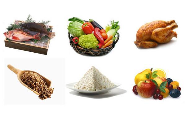 Продукты для 6-лепестковой диеты