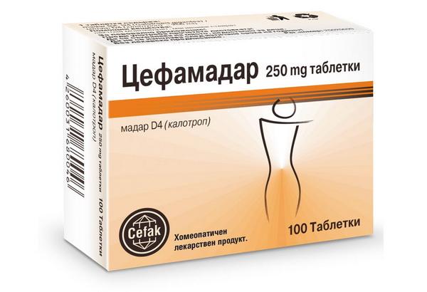 Таблетки Цефамадар для похудения