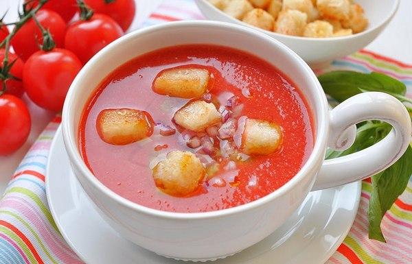 Суп гаспачо для средиземноморской диеты