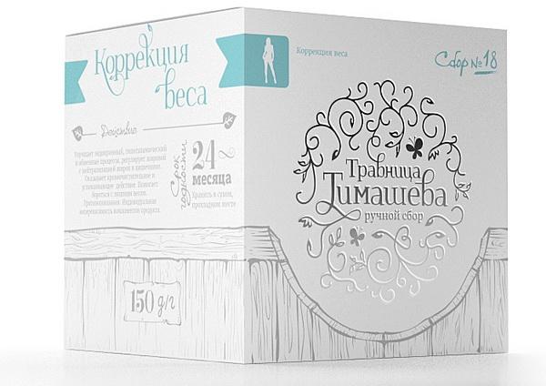 Фитокомпозиция № 18 - Коррекция веса торговой марки Травница Тимашева