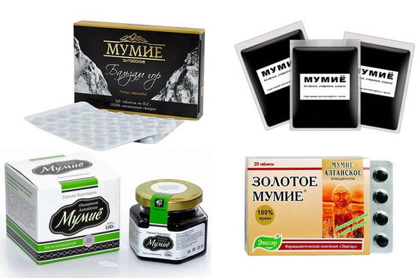 Аптечное мумиё для похудения в виде таблеток и смолы