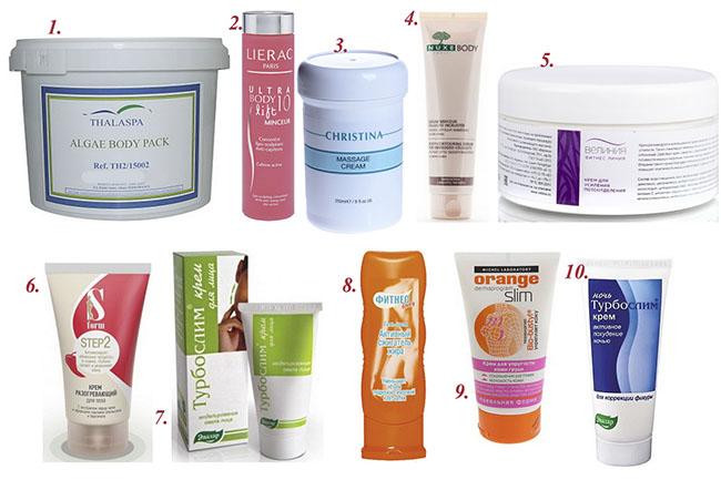 ТОП лучших брендов кремов для похудения