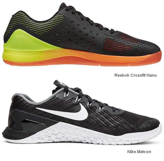 Reebok Crossfit Nano и Nike Metcon