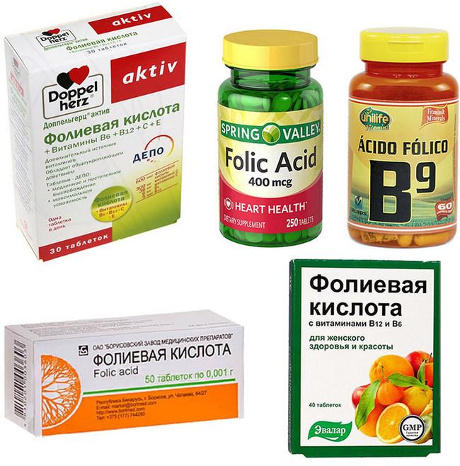 применение фолиевой кислоты для похудения