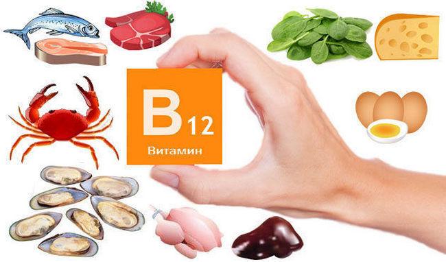 Продукты с витамином B12