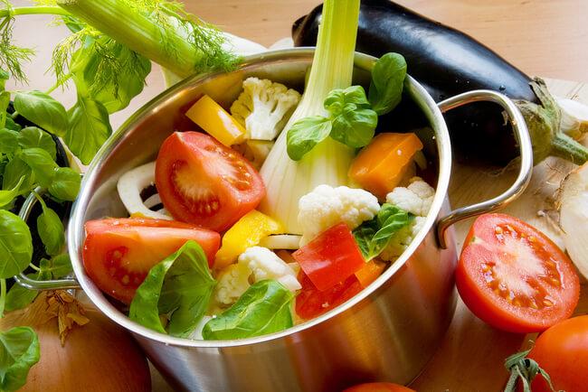 Меню из овощей для похудения