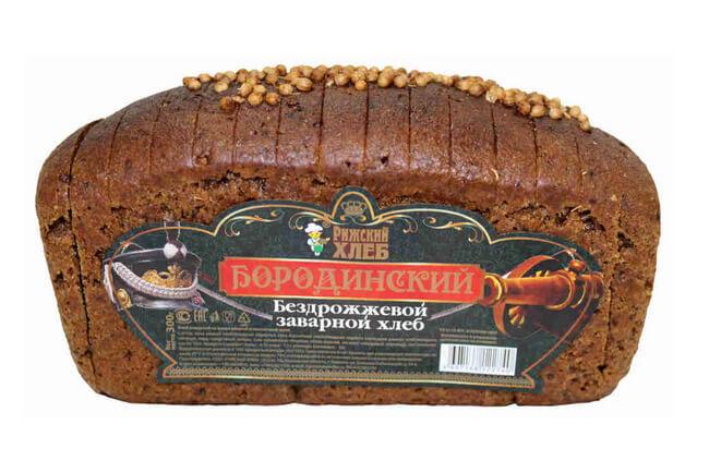 Бородинский бездрожжевой заварной хлеб