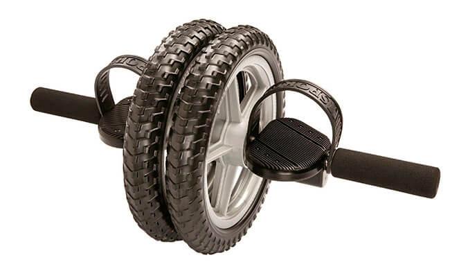 Гимнастический ролик с педалями для пресса и мышц ног