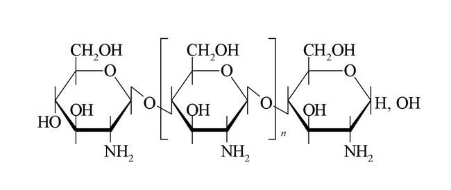 Структурная формула Хитозана
