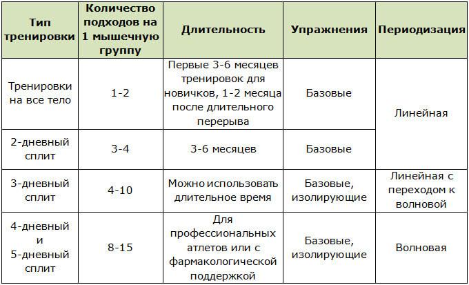 Общая система для сплит тренировок