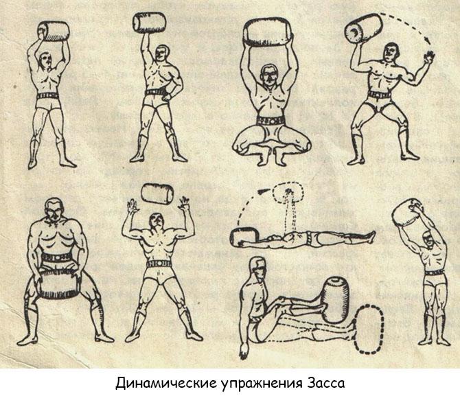 Динамические упражнения Засса